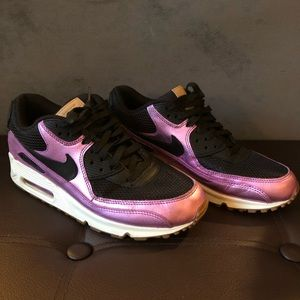 Nike Air Max 90 Premium Black/Purple Metallic 8.5